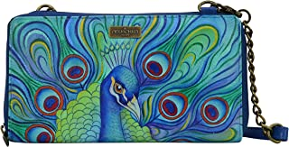 Anna by Anuschka Anuschka Hand Painted Leather Women'S Zip Around Rfid Crossbody Clutch