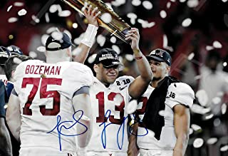Tua Tagovailoa Autograph Replica Poster Print - Alabama - National Champions