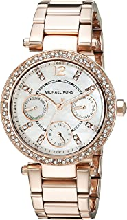 Michael Kors Parker Women's White Dial Stainless Steel Band Watch - MK5616