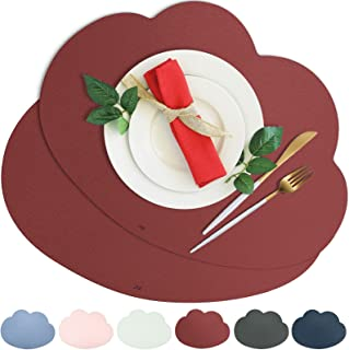 JTX Placemats Set of 2 Cloud Placemats for Dinning Table Stain Resistant Non-Slip Leather Placemats Washable Kitchen Table...