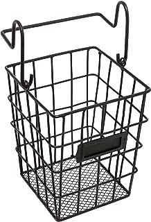 Modular Black Metal Mesh Wire Hanging Kitchen & Dining Utensils Storage Basket/Bathroom Toiletries Holder Basket