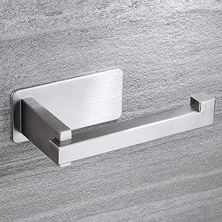 ZUNTO Porte papier toilette – Autocollant porte-rouleau de papier toilette sans perçage pour salle de bain et toilettes, i...