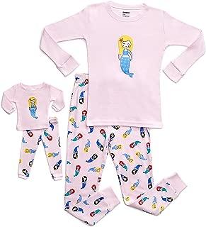 Leveret Kids & Toddler Pajamas Matching Doll & Girls Pajamas 100% Cotton Set (Toddler-14 Years) Fits American Girl