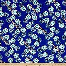 FreeSpirit Fabrics Tokyo Milk Neptune & The Mermaid Song of The Siren Navy Fabric by The Yard