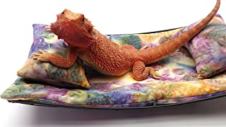 Chaise Lounge for Bearded Dragons, Watercolor Pastels Fabric