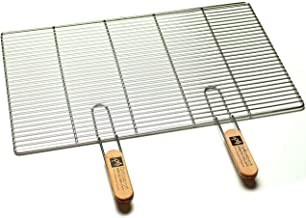 Edelstahl-Grillrost mit abnehmbaren Handgriffen 67 x 40 cm