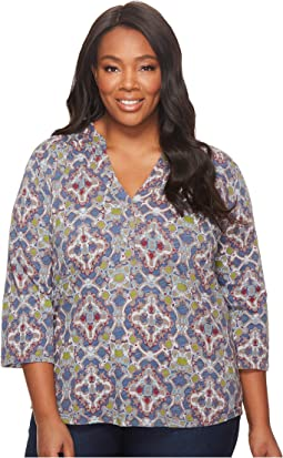 Extra Fresh by Fresh Produce - Plus Size Tile Play Dockside Henley