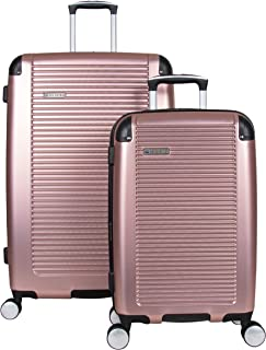 Ben Sherman Norwich Luggage Collection Lightweight Hardside PET Expandable 8-Wheel Spinner Travel Suitcase Bag, Rose Gold,...