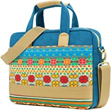 Kinmac Blue-Bohemian Laptop Messenger Shoulder Bag Briefcase for 12.9 inch-13.5 inch Laptop