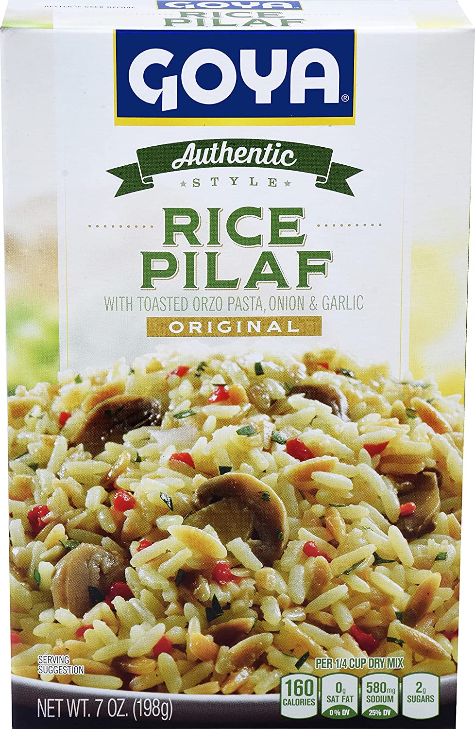 Goya Regular discount Foods Authentic Style Rice Pilaf Pack Super sale period limited of Ounce 7 Mix 12