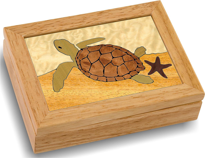 13. Sea Turtle Wood Jewelry Box