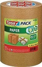 tesapack Papier ecoLogo Verpakkingstape - Plakband voor gebruik met of zonder handafroller - Milieuvriendelijke tape - Set...