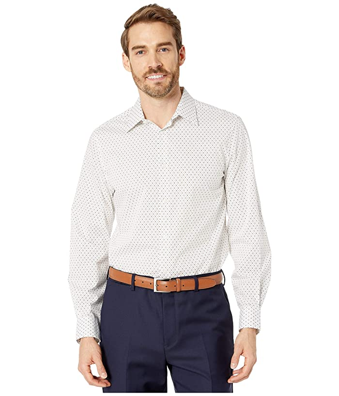 Perry Ellis  Regular Fit Stretch Printed Shirt (Bright White) Mens Clothing