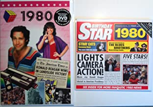 1980 Birthday Gifts Pack - 1980 DVD Film , 1980 Chart Hits CD and 1980 Birthday Card