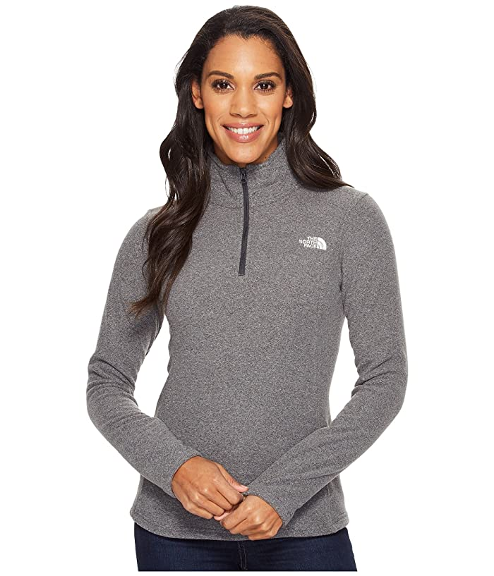 The North Face Glacier 1/4 Zip Fleece Top (TNF Dark Grey Heather (Prior Season)) Women