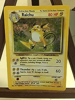 Pokemon Base Set Holofoil Card #14/102 Raichu