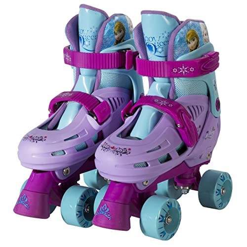 PlayWheels Disney Frozen Classic Quad Roller Skates, Junior Size 1-4