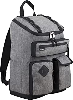Fuel Multi-Pocket Cargo Backpack with High Capacity Top-Loader Entry, Medium Gray Chambray