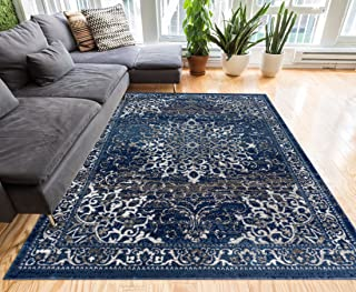 Well Woven Coverly Blue & Beige Vintage Medallion Traditional Persian Oriental Area Rug 8 x 10 (7'10