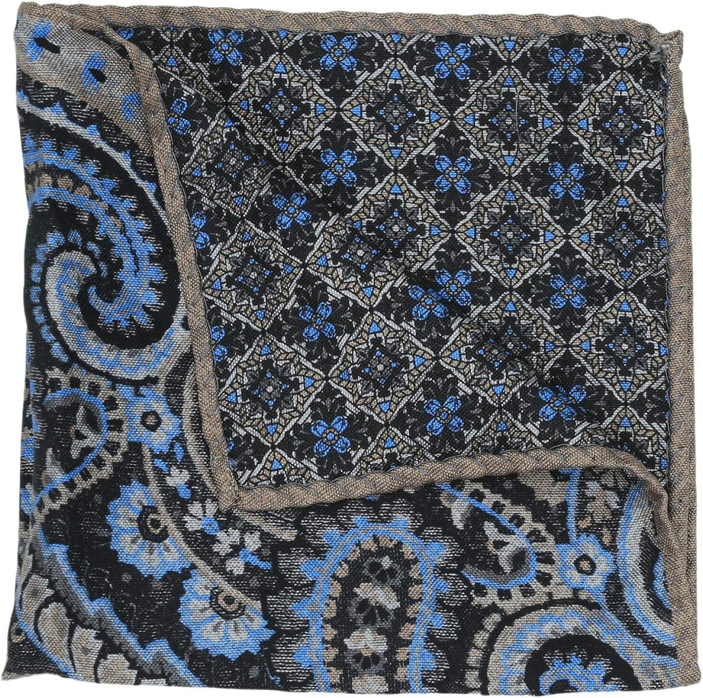 Dion Men's Reversible Paisley Print Pocket Square