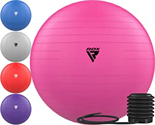 RDX Exercise Ball Anti-Burst Extra Thick PVC Material, Soft Swiss Balance Ball with Quick Pump for Yoga Pilates Stretching Fitness Birthing Pregnancy Office Home Gym Workout Training, Supports 250kgs