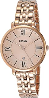 Fossil Jacqueline Rose Gold Stainless Steel Watch ES3435