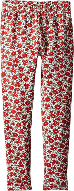 Floral Stretch Jersey Leggings (Little Kids)