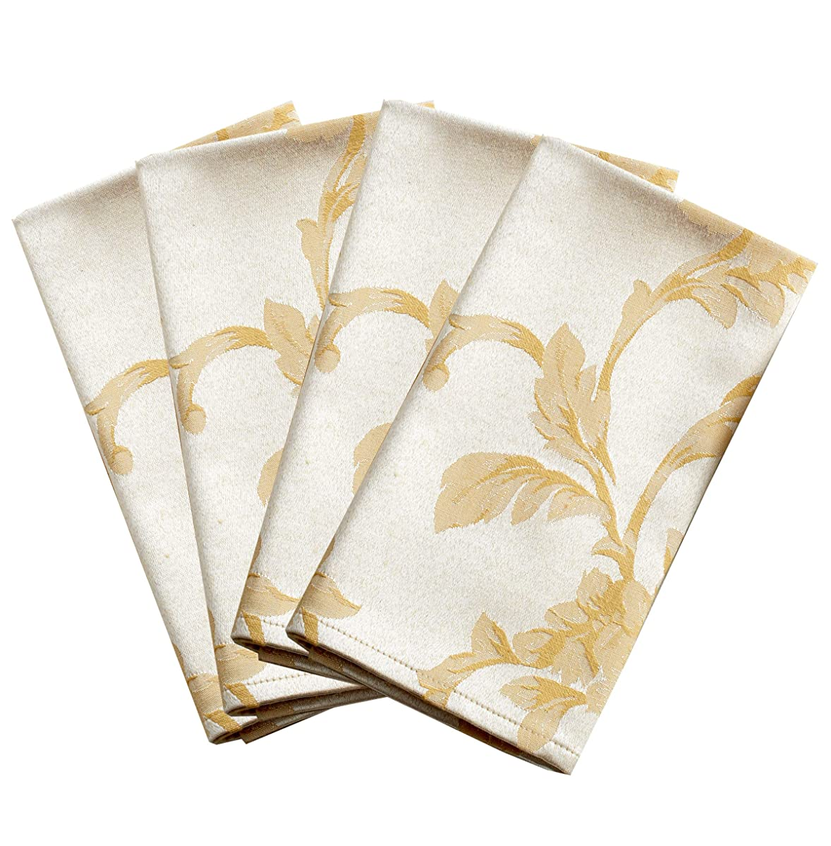 Harmony Scroll Set of 4 Napkins (Silver - Gold, 18