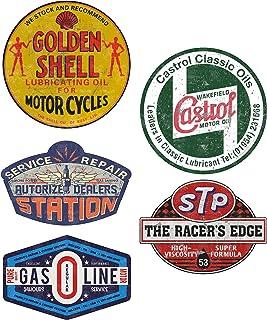 MG616 / Aufkleber Set Gasoline Breite je ca. 6,5cm Shell STP Hot Rod Shop Sticker Retro Oil Vintage Oldtimer Old School
