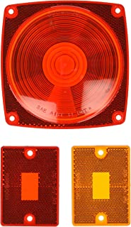 Optronics A8RK Tail and Side Marker Light Replacement Lens Set, Red