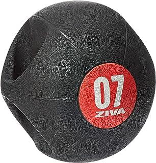 Ziva Zvo Dual Grip Medicine Ball, 7 Kg Black/Red - Ziva-Zvo-Dgmb-1507Br