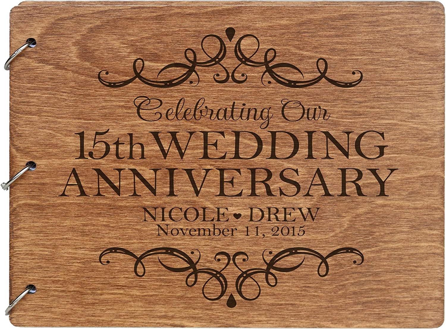 LifeSong Milestones Personalized 15th Guest free Anniversary Fashion Wedding