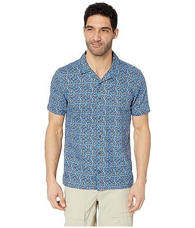Toad&Co Harbour Short Sleeve Shirt (Beachy Blue Fish Print) Men