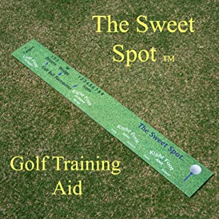 The Sweet Spot Golf Swing Training Aid for Improving Accuracy and Distance. Teaches Optimal Ball Placement Within Stance for Each Club. Great for Practice Range and Golf Simulators Training Aid