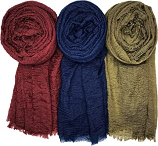 WANBAO Scarf Shawl for All Seasons Women Wrap Shawls Stylish Scarf 3Pcs.