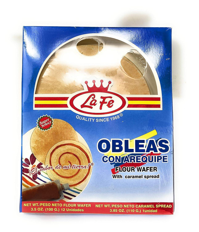 La Fe Flour Wafer with Caramel Spread 110g