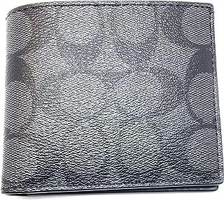 [コーチ] COACH 財布 (二つ折り財布) F75083 チャコール×ブラック CQ/BK シグネチャー メンズ レディース [アウトレット品] [並行輸入品]
