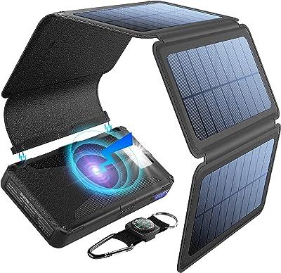 Blavor 20,000 mAh battery bank with 5 solar panels