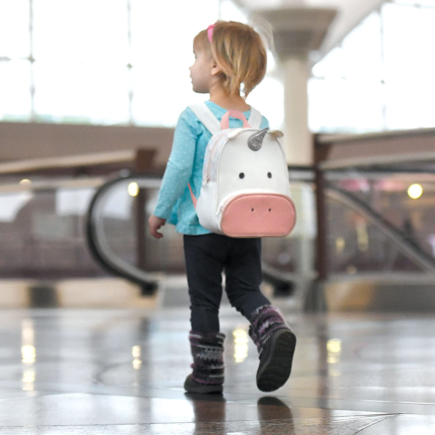 Travel Bug Toddler Safety Backpack Harness with Removable Tether (Unicorn)
