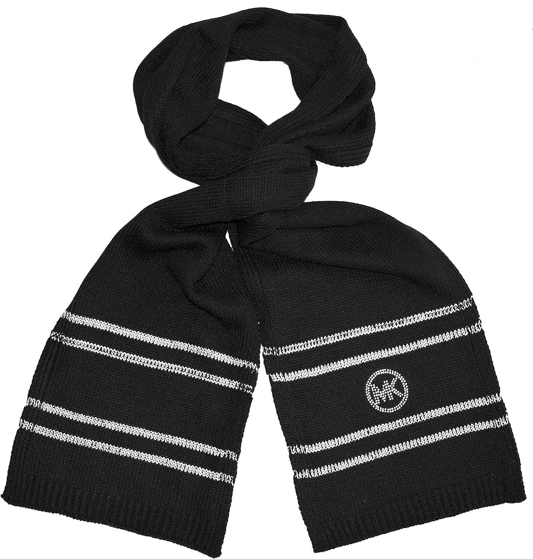 Michael Kors Fashion Knit Scarf Neck Warmer Womens Black