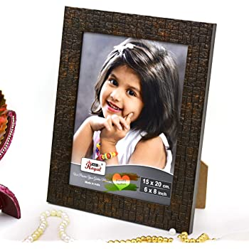 Ajanta Royal Classic 6 x 8 Photo Frame Insert (Brown Metalic) A-49