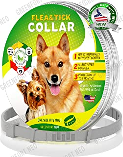 GreenfortNeo Pest Control Collar: Hypoallergenic Waterproof Protection Long Lasting Flea and Tick Prevention Fully Adjustable one Size fits All