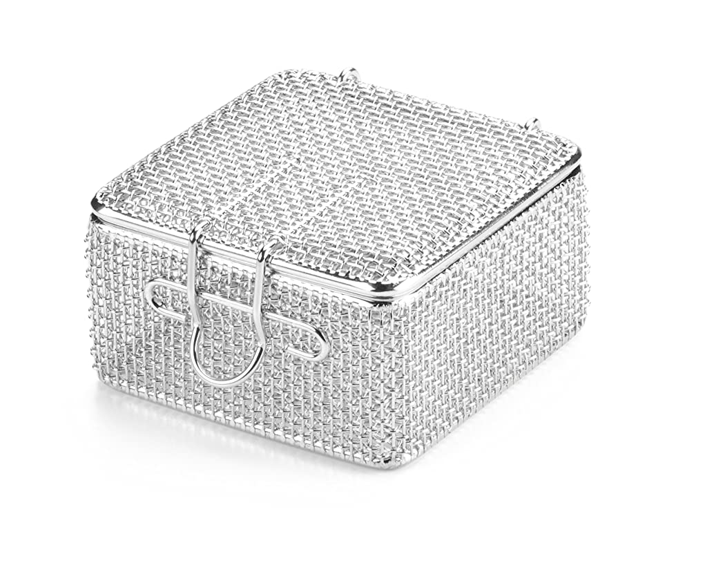 Key Surgical MT-5800 Micro Mesh Tray with Lid, Stainless Steel, 80 mm x 80 mm x 40 mm