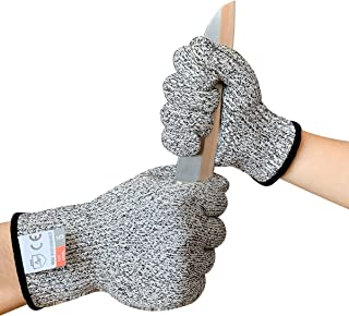 Cut Resistant Gloves for Kids Food Grade Safety Gloves for Yard Work, Repairing and Most Kitchen Cutting, Slicing(XS 1pair)
