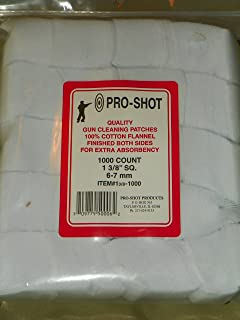 "Pro Shot Pro-Shot/Patches Pro-Shot 1 3/8"" sq Patch 1000 CT. 6-7mm"