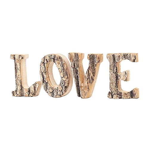 Big Shabby Chic LOVE Letters Tealight Holders White Red Multi Wash Wooden Word