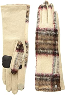 Brushed Plaid Gloves