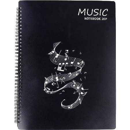 Dossier de rangement pour partitions de musique Format A4 20 Pages / 40 pochettes G Clef, Sac de rangement pour documents de stockage de papier de chanson pour musiciens et musiciens