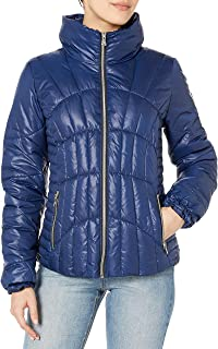 GUESS womens Quilted Puffer Jacket