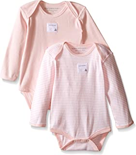 Unisex Baby Bodysuits, 2-Pack Organic Cotton Short & Long Sleeve One-Pieces